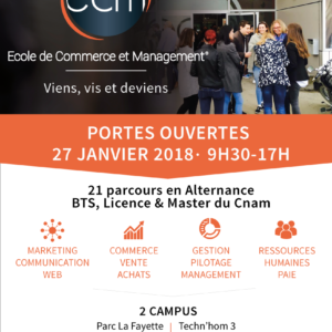 Portes ouvertes ECM 27 janvier 2018