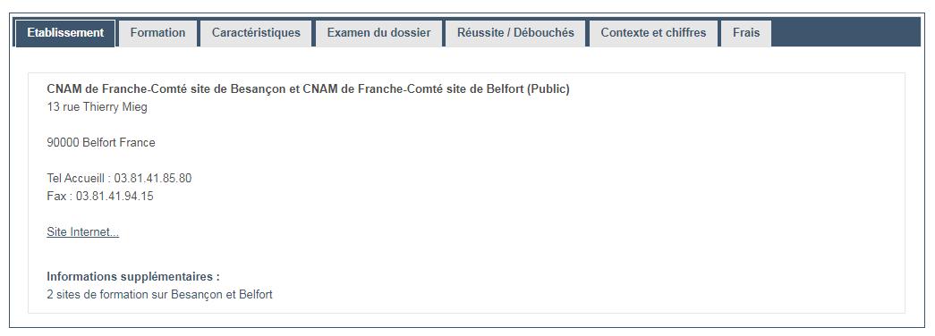 ECM parcoursup admission