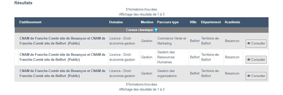 Licence ECM Cnam Parcoursup