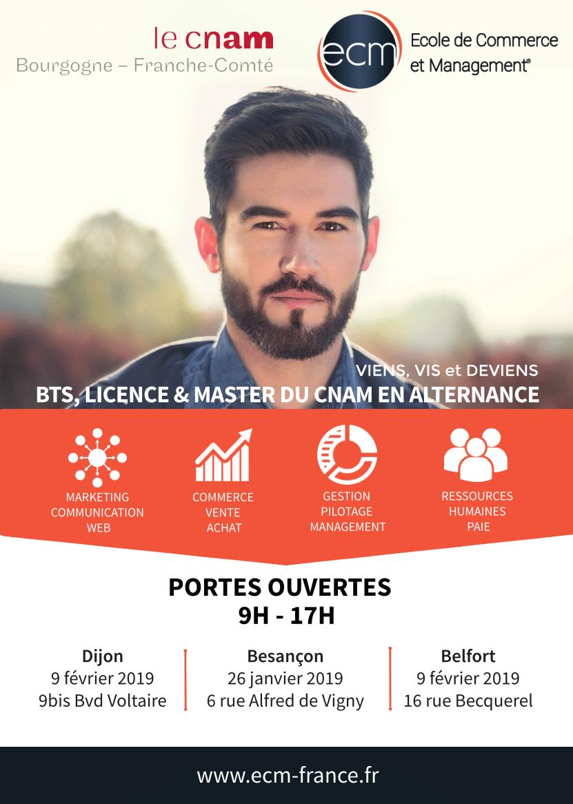Portes ouvertes école de commerce besançon belfort Dijon
