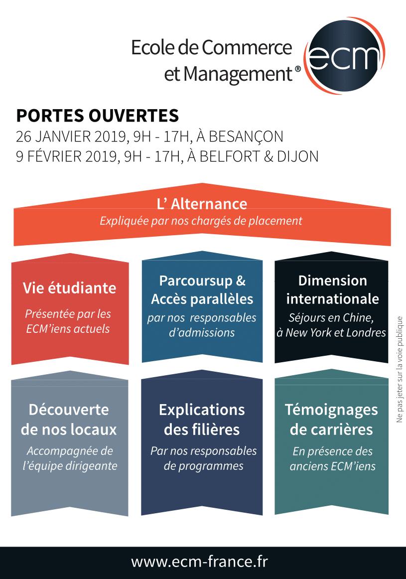 Portes ouvertes ECM Besançon Belfort Dijon Parcoursup