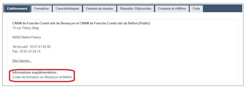 Licence Besançon Belfort après Bac
