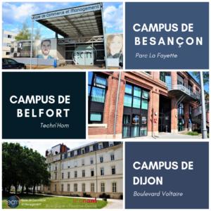 Portes ouvertes ECM école de commerce et management campus Dijon Besançon Belfort