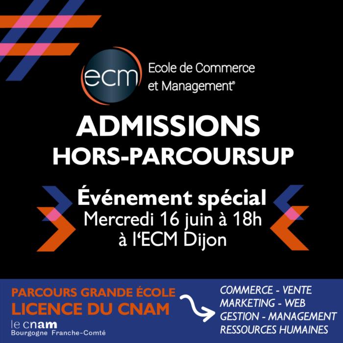 Dijon- admissions hors parcoursup 2021